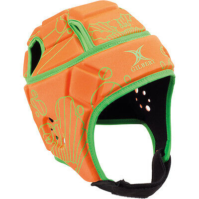 Clearance Line New Gilbert Rugby Attack Blitz Headguard Orange Large Boys