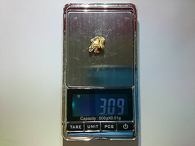 3.09 grams Gold Nugget
