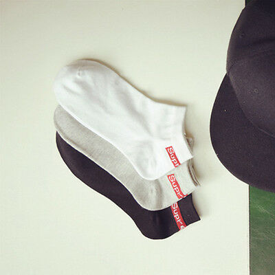 Supreme Cotton Ankle Socks Brand New 1 Pair Black, White or Grey