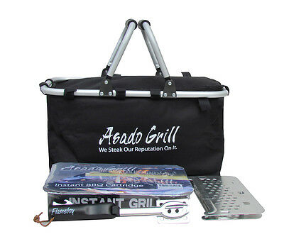 Disposable BBQ Barbecue Grill Hamper Kit Stand Outdoor Camping Thermal Cool Bag