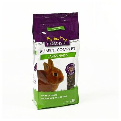 Paradisio - Aliment Complet pour Lapins Nains - 2,6Kg