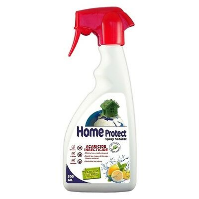 Home Protect - Spray Habitat Acaricide Insecticide Parfum Citron - 500ml