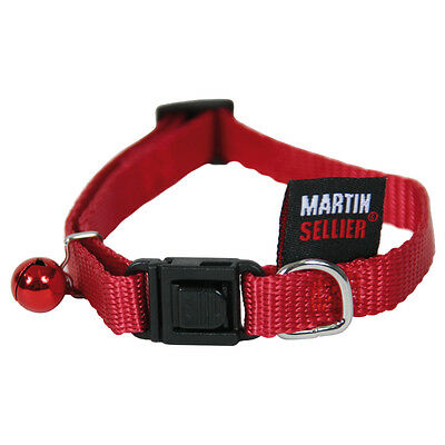 Martin Sellier - Collier Réglable 10-20/30 - Rouge