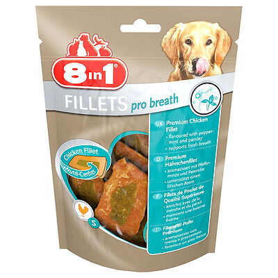 8in1 - Friandises Filets Poulet Pro Breath S pour Petit Chien
