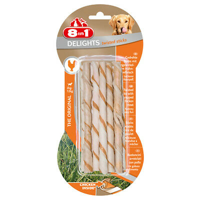 8in1 - Friandises Twisted Delights Stick Poulet pour Chien- x10