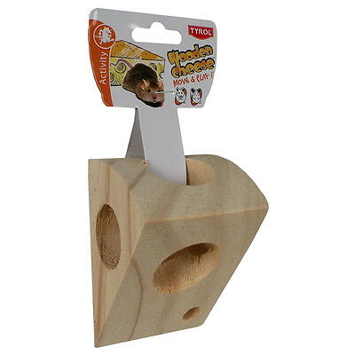 Tyrol - Morceau de Fromage Wooden Cheese Move & Play pour Rongeur