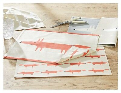 Harlequin Scion Me Fox Placemats - Set Of 6 *ORANGE AND STONE* Free Reg Postage!
