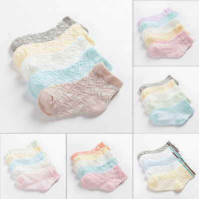 10 pairs Cotton Baby Socks Newborn Floor Socks Girl and Boy Short Socks