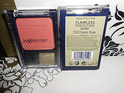 Max Factor Flawless Perfection Blush 220Classic Rose Discontinued Full Size 5.5G
