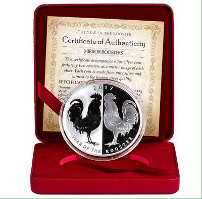 2017 Tokelau Year Of The Rooster 1 oz .999 Silver Proof Coin ONLY 500 Mintage!!