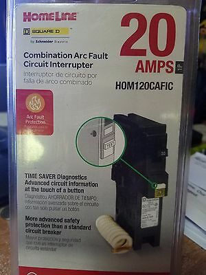 Homeline Combination Arc Fault Circuit Interrupter - 20 amps.