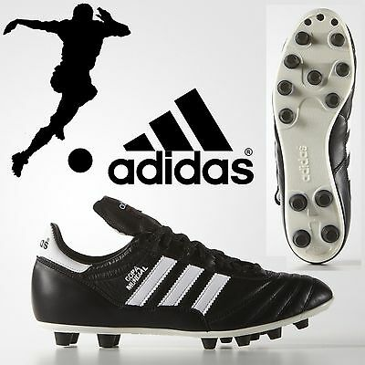adidas Official Copa Mundial Mens Leather FG Football Boots Firm Ground Moulded