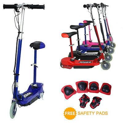 eGlide E-Scooter - 120w Electric Ride-On Kids/Childrens Scooter + Removable Seat