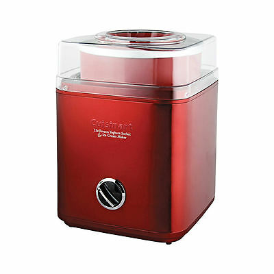 Cuisinart Stainless Steel Ice Cream Machine Red 2 Litre RRP $199.00