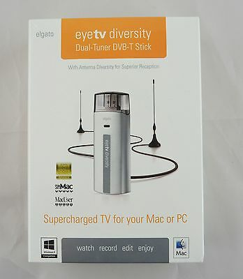 elgato eyetv diversity DVB-T TV-Tuner USB Connector Mac & Windows neu & OVP