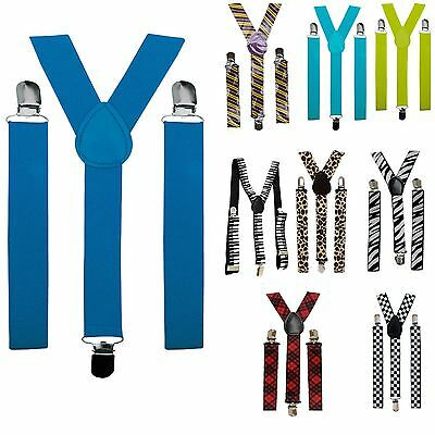Mens Ladies Adjustable Braces Unisex Trouser Suspenders Fancy Dress Party Tutu