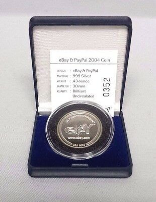 2004 eBay & PayPal Logos .999 Silver Limited Edition Coin