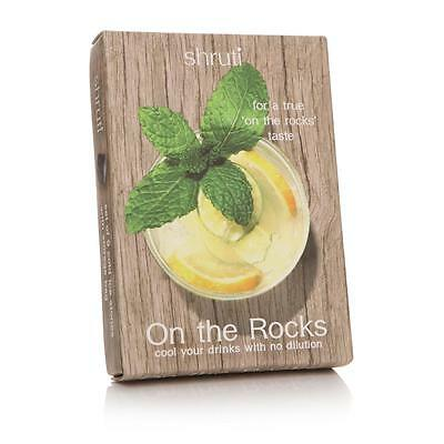 S/9 Granite Cocktail Gin Whisky On The Rocks  Ice Cube Drinks Stones & Pouch