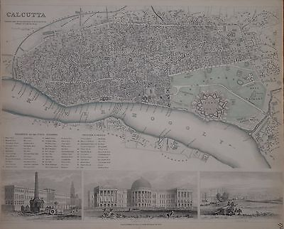 Town Plan Of Calcutta For The Sduk Published 1842.