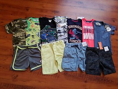 NWT Boys Spring / Summer Clothes Lot SIZE 5 / 5T Shorts S/S Shirts Lot of 11