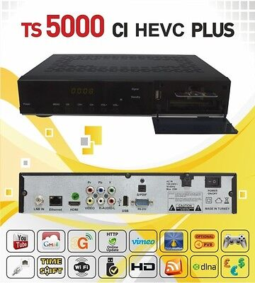 Redline TS 5000 HD Plus Sat Receiver IPTV,Youtube,CI,CA,Full HD