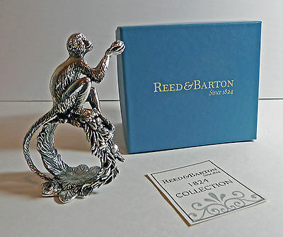 """Reed and Barton """"Monkey"""" Silverplate NAPKIN RING 1824 Collection--RARE"""