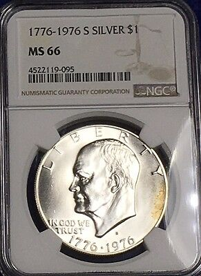 1776 - 1976-S Silver Eisenhower Dollar $1 - NGC MS 66