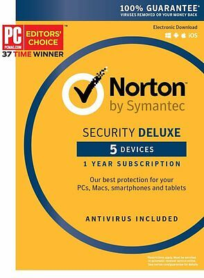 Norton Security Deluxe 2016 - 5 Device [Key Card]
