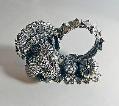 """Reed and Barton """"TURKEY"""" silverplate NAPKIN RING--1824 Collection--RARE"""