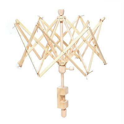 Hot  Umbrella New Wooden(Birch) Swift Yarn Winder HOLDER Knitting Ball Tools FL