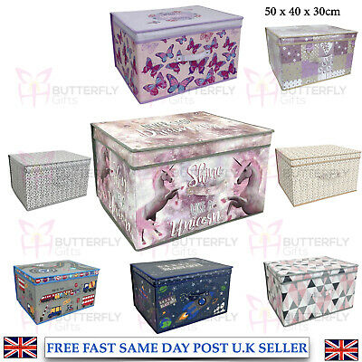 Canvas Storage Box Collapsible Foldable Bedroom Storage Box Organiser