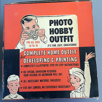 Vintage Retro Photo Hobby Outfit Developing and Darkroom Kit for all ages