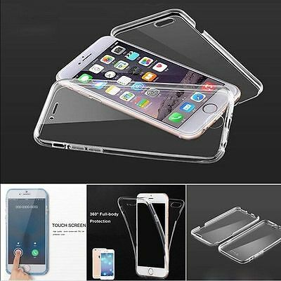360° Front and Back Clear Full protection Gel Skin Case Cover For Apple iPhones