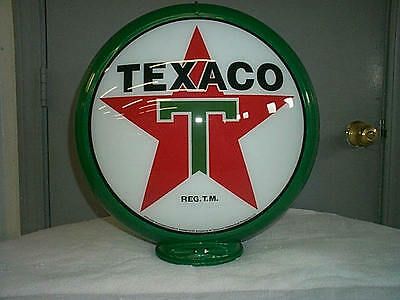 gas pump globe TEXACO reproduction 2 GLASS LENS in a plastic body NEW