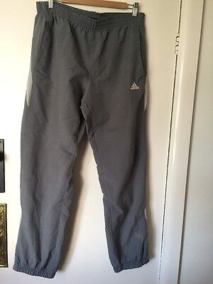 Men's Job Lot 4 Pairs Adidas Tracksuit Bottoms Grey Medium Size