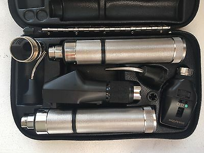 Welch Allyn 3.5v Retinoscope & Ophthalmoscope  with 2 Rechargeable Handle GOOD