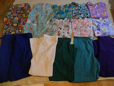 Lot Women's Scrubs FUDAMENTALS-DISNEY-CHEROKKE-CREST PANTS- TOPS   SZ.XS/ Small