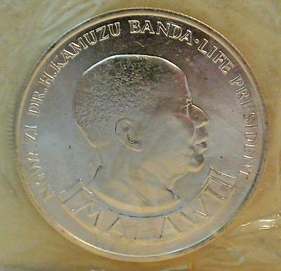 Malawi 1974 10 Kwacha Silver Coin - 10Th Anniversary Of Independence
