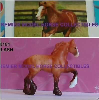 Breyer SPLASH 2016 roan HIGH STEPPING DRAFT Surprise Series 2 Mini Whinnie