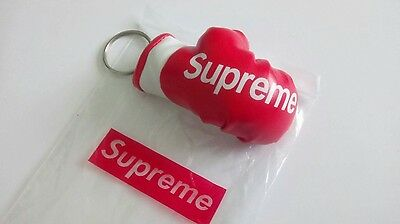 Red Supreme boxing glove keychain keyring lanyard accessories