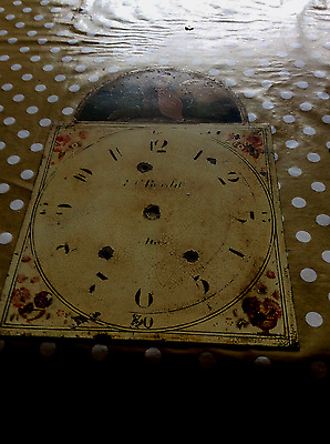 painted clock  face for long case clock
