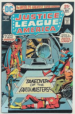 JUSTICE LEAGUE OF AMERICA #118 JLA HIGH GRADE Takeover Earth Masters May 1975