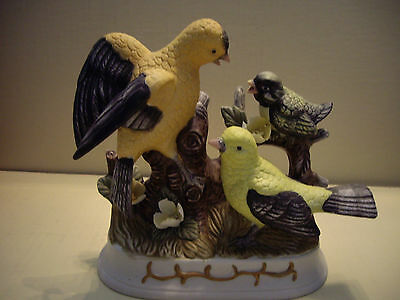 Unmarked 3 Yellow Birds Porcelain Figurine