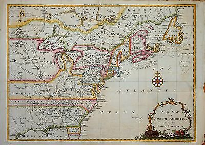 A New Map Of North America From The Latest Discoveries 1761 By John Spilsbury.