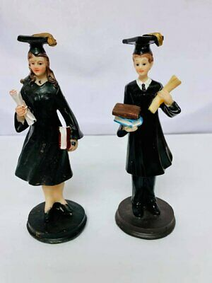 Graduation Figurine with Diploma Class of Cake Topper Centerpiece or Favor