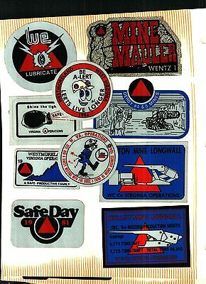 10 Different Nice Westmorland Coal Co. Coal Mining Stickers # 265