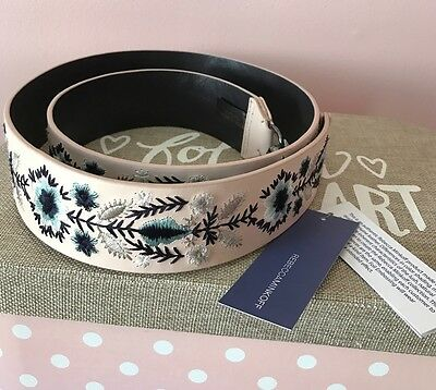 Free Shipping ~Bnwt Rebecca Minkoff Pink Floral Leather Guitar Strap
