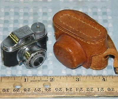 Miniature Hit Spy Camera and Tiny Leather Case, Made in Japan