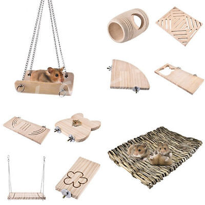 Wooden Various Pet Hamster Swing Gerbil Rat Toy Exercise Platform Animal Supplie