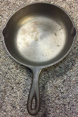 Vintage Cast Iron Skillet Pan Marked NO.5 8-1/8 INCH